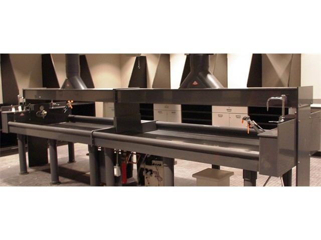 PVC darkroom sinks-vent hood